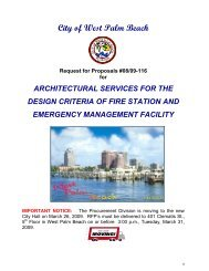 REQUEST FOR PROPOSAL - City of West Palm Beach