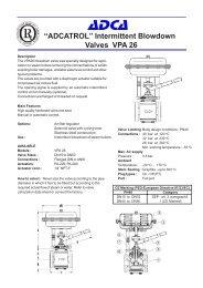 """ADCATROL"" Intermittent Blowdown Valves VPA 26"