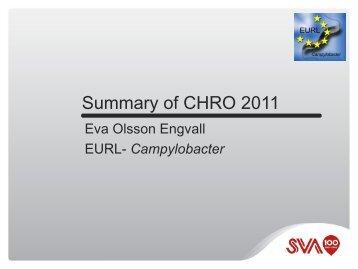 Summary of presentations CHRO 2011 (pdf) - SVA