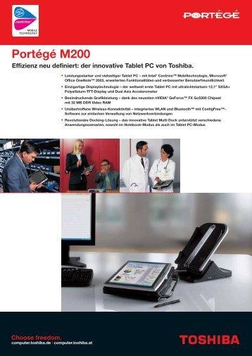 Portégé M200 - Toshiba