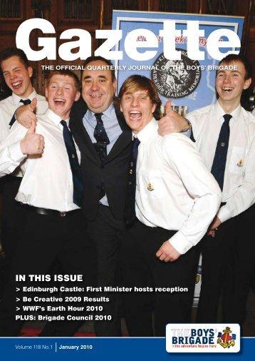 January 2010 - The Boys' Brigade
