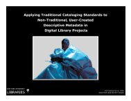 Applying Traditional Cataloging Standards to Non-Traditional, User ...
