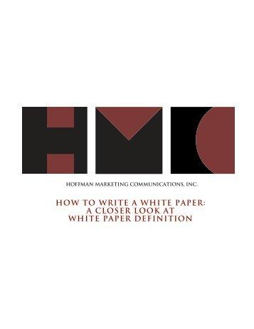 Term white paper definition