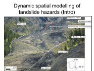 Introduction to the spatial modeling of slow/rapid landslides
