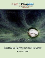 Portfolio Performance Review - Thefinapolis