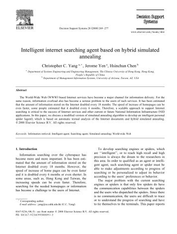 Intelligent internet searching agent based on hybrid simulated ...