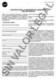 contrato para la provisión del servicio de pbx gestionada