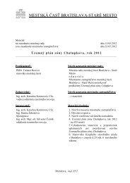 Košielka, návrh uznesenia, dôvodová správa, návrh VZN - Staré Mesto