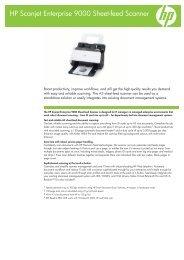 HP Scanjet Enterprise 9000 Sheet-feed Scanner - Product ...