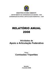 RELATÓRIO ANUAL 2008 - Ministério do Meio Ambiente
