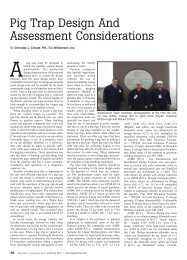 Pig Trap Design And Assessment Considerations - T.D. Williamson ...