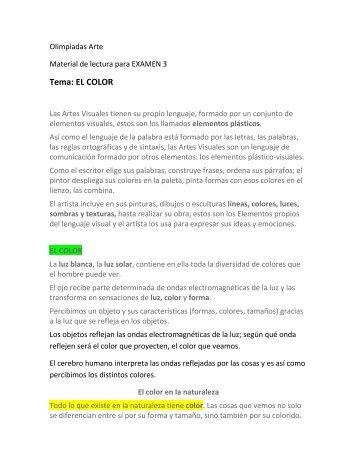 Tema: EL COLOR - TramixSakai ULP