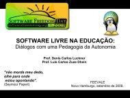 SOFTWARE LIVRE NA EDUCAÇÃO: