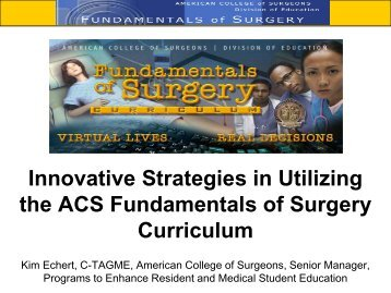 Agretto & Echert - Association of Program Directors in Surgery