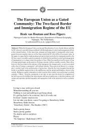 The European Union as a Gated Community: The ... - CRASSH and