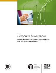 Corporate Governance: The Foundation for Corporate Citizenship and