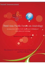 3APFA Second Announcement - Asian Journal of Andrology