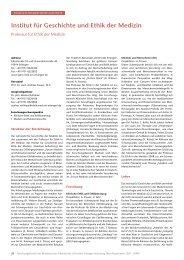 Medizin-Ethik: Forschungsbericht 2007 - 2008 - Institut für ...