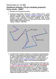 Doplňkové příklady z PG pro studenty prezenční formy studia - 2006/7