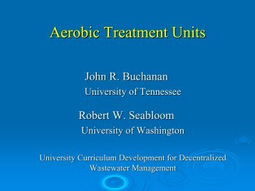Aerobic Treatment Units - Center for Decentralized Wastewater ...