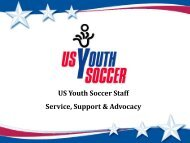 US Youth Soccer Staff Service, Support & Advocacy