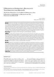 O profissional de enfermagem e a realização do teste - Uerj