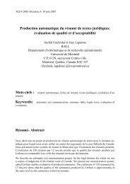 Production automatique du résumé de textes juridiques - RALI ...