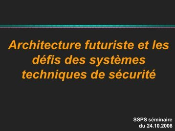 Architecture et défis sécuritaires - VBSF
