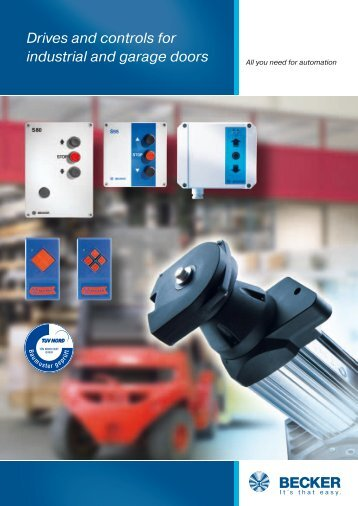 Drives and controls for industrial and garage doors - Becker ...