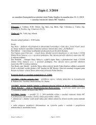 Zápis č. 3/2010 ze zasedání Zastupitelstva MČ Praha-Satalice ...