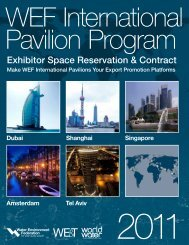 Exhibitor Space Reservation & Contract - Water Environment ...