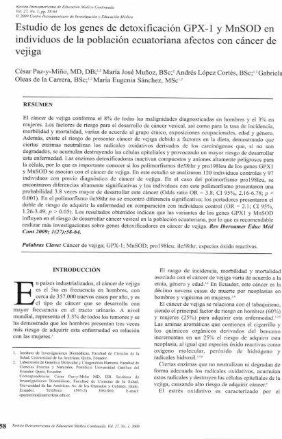 Artículocáncerdevejiga-Revista ... - My Laureate