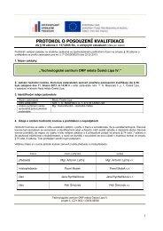 Protokol o posouzení kvalifikace (02/04/2013 ... - Město Česká Lípa