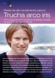 Dietas de alto rendimiento para la trucha arco-iris - Skretting