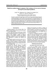 29 Radiation-epidemiological analysis of the ... - Progetto HUMUS