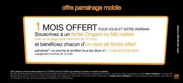 offre parrainage mobile - M6 Mobile