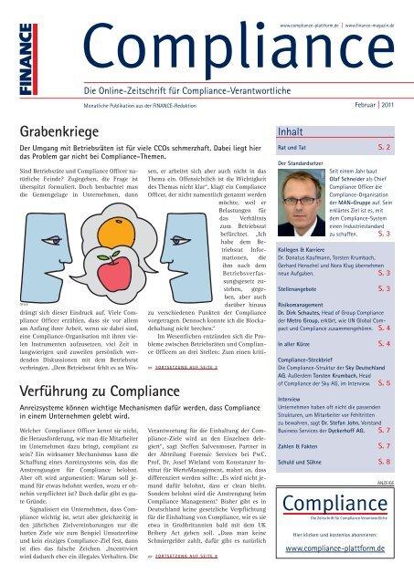 (PDF) | Ausgabe Februar 2011 - Compliance