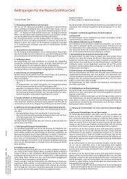 Bedingungen für die MasterCard/Visa Card - Sparkasse Dieburg