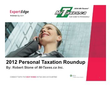 2012 Personal Taxation Roundup - CCH Canadian