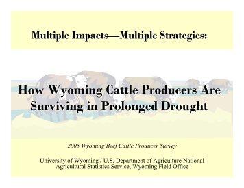 Wyoming Livestock Producer Survey