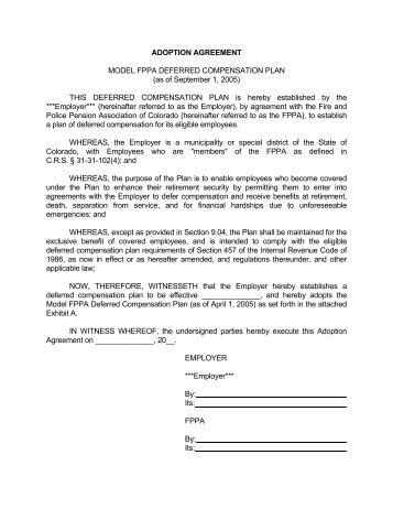 457b Deferred Compensation Agreement Form Georgia Tech