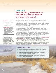 How do environmental issues involve political - Nelson Education
