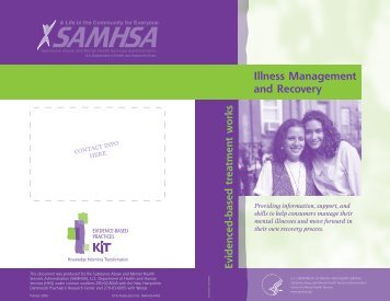 Illness Management and Recovery - SAMHSA Store - Substance ...