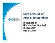 Servicing Out-of-Area Members: Contiguous Areas - Blue Shield of ...