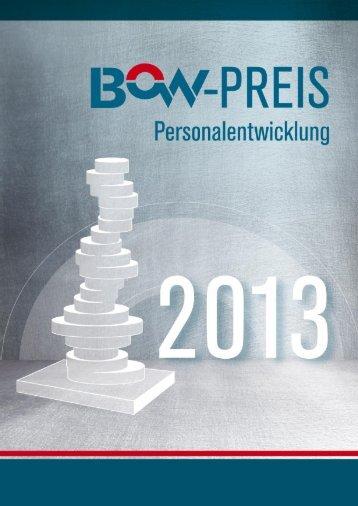 Broschüre zum BOW-Preis Personalentwicklung 2013