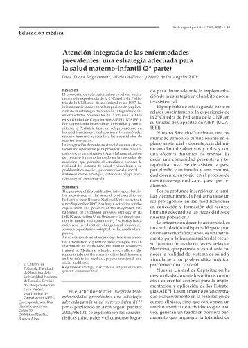 Atención integrada de las enfermedades prevalentes: una ...