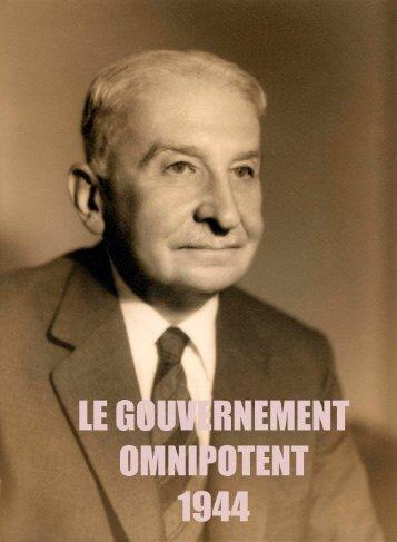 Mises -Le Gouvernement omnipotent - Institut Coppet