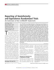 Reporting of Noninferiority and Equivalence Randomized Trials - SF ...