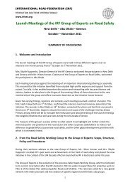 Minutes - IRF | International Road Federation