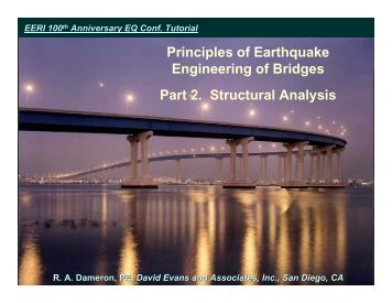 Principles of Earthquake Engineering of Bridges - 100th Anniversary ...